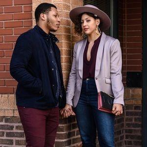 Jackets & Coats - Pink Satin Blazer